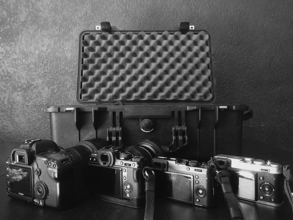 Canon 5dmkii, Fuji x-t1, Fuji X100t, Fuji X100s