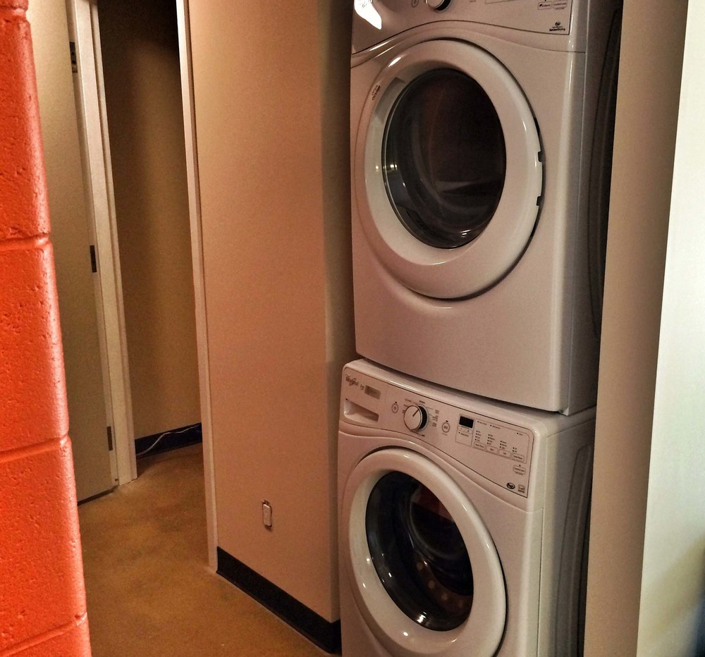 laundry machines in every unit.