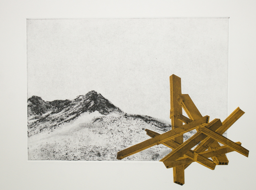 Etching with chine colle