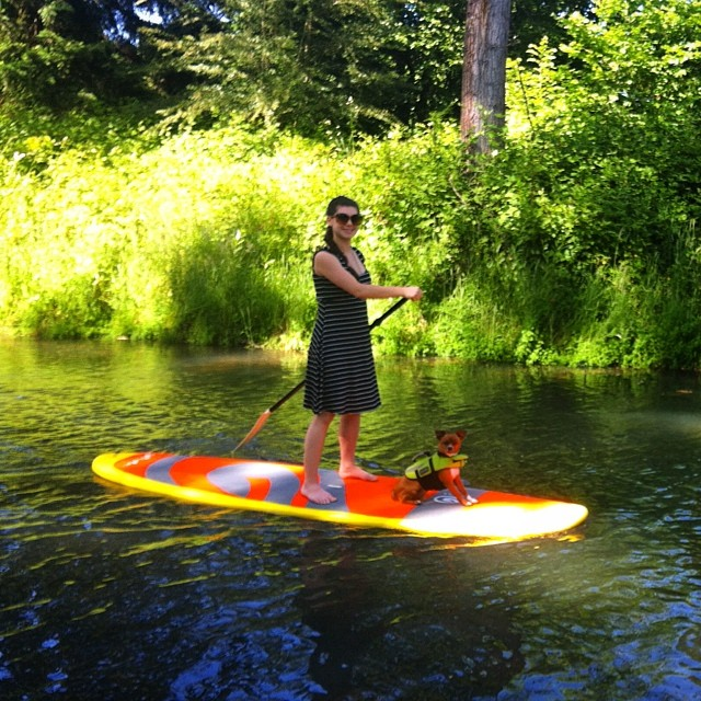 Gorgeous Momma-to-be @ceciliawoods :: ya she SUPs in a dress! @glidesup #pnw #paddleboard #sup #glidesup #supconnect #stokeradio