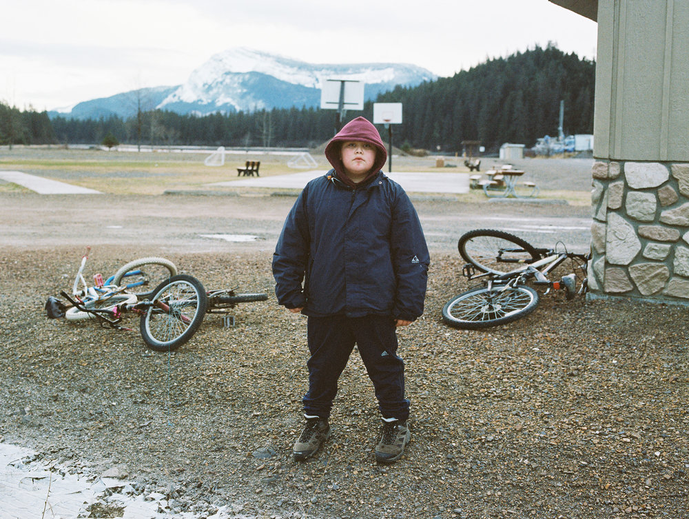 Shawn Anthony. When I met him he told me he carries a bear whistle just incase. I asked if he ever had to use it. He responded by telling me he had to use it once while picking strawberries with his grandmother. He then told me about how kids sometimes aren't allowed to go out at night because of the bears. Bonzi was a boy he knew who got mauled by a bear right in the middle of town. Happens all the time. Hoonah is on Chichagof Island, home to the densest brown bear population in the world. I asked two different people if they hunted bears and got two answers. The first was no, because if you shoot a bear for sport, there will be a time when you and the bear meet again, and only the souls will know who should survive. The second no I received was because when you cut open a bear and lie it on his back, he looks just like a human.