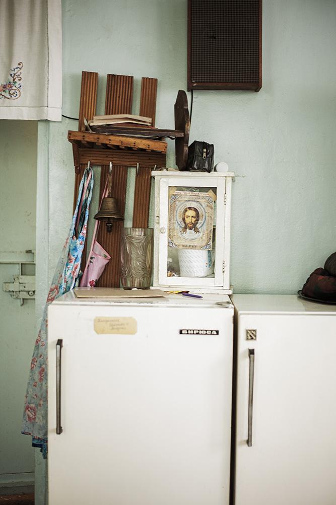 Kitchen interior of a Russian Orthodox Church, Krasnouralsk.