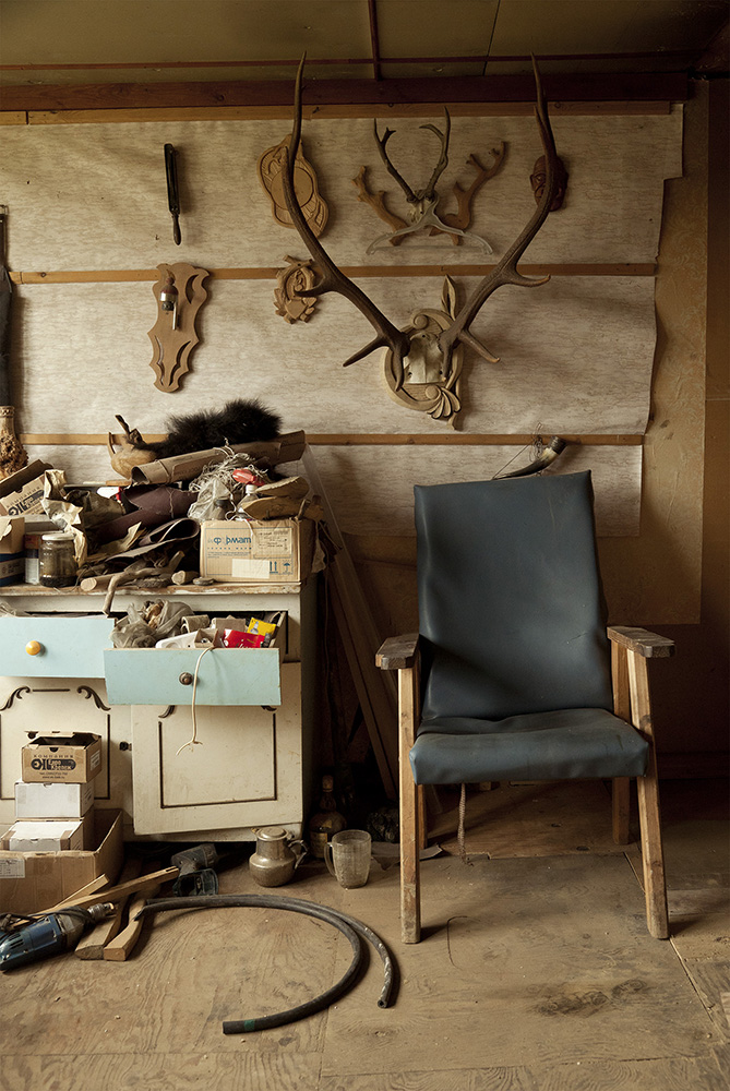 Interior of a carpenter's home in Otolik. Otolik and Baikalsk need one another to survive. Otolik is the artistic community, Baikalsk is a town based around one paper plant. One is the industrial backbone, the other is the creative force keeping it alive.