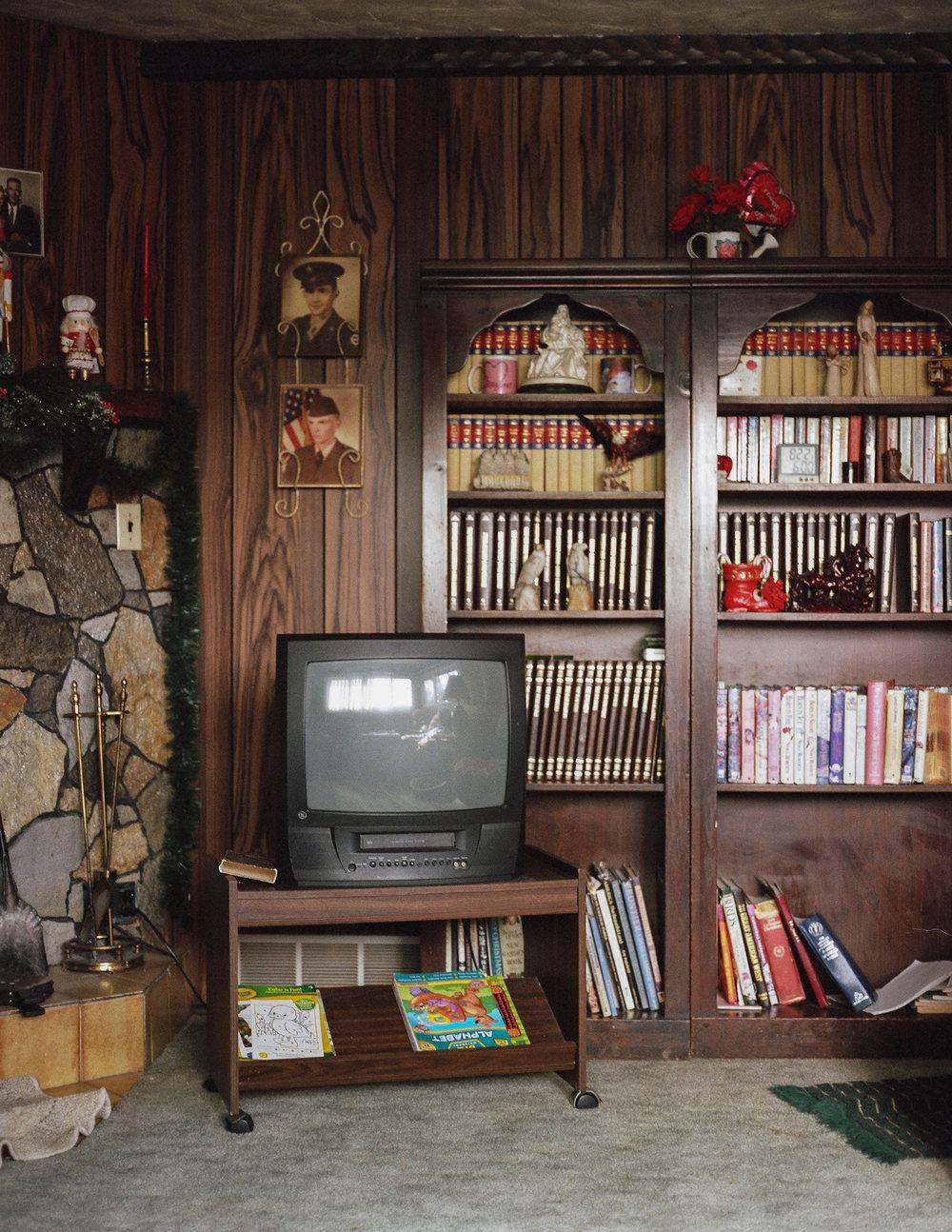 Interior of a home, Wanship, population 400 . December 2014.