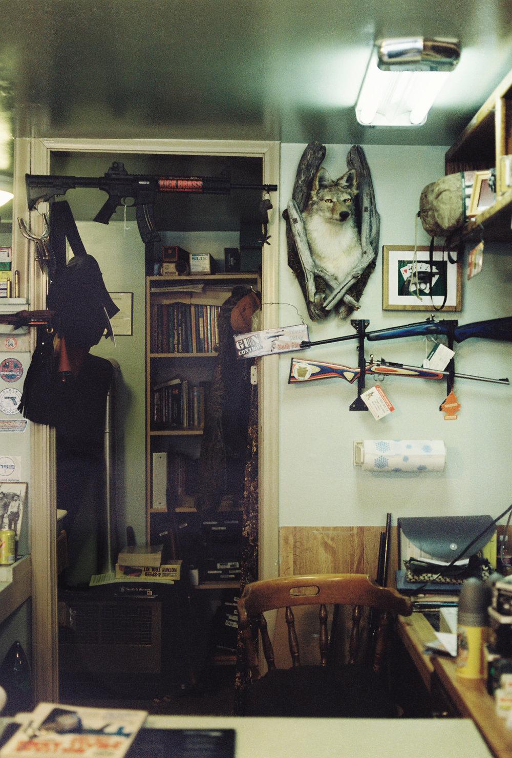 Interior of Brad's Gun Shop in Eureka, Utah.