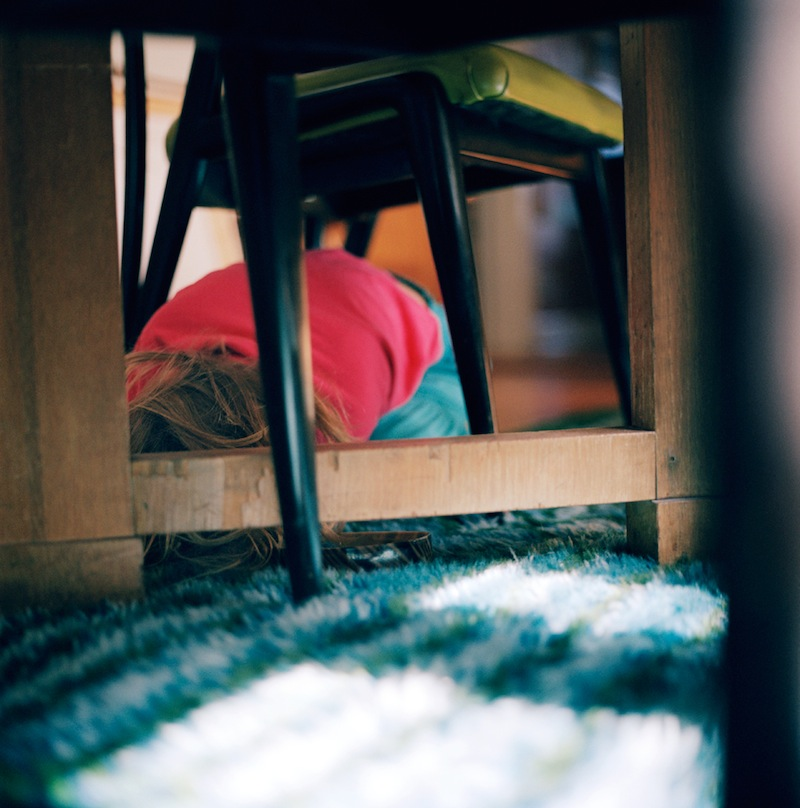 Elsa Under Table  by Colleen Plumb | Digital C-Print