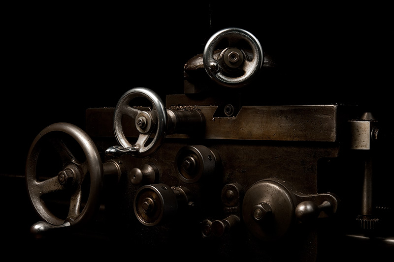 Carriage, Davis Engine Lathe  by Joseph Holmes | Archival Pigment Print