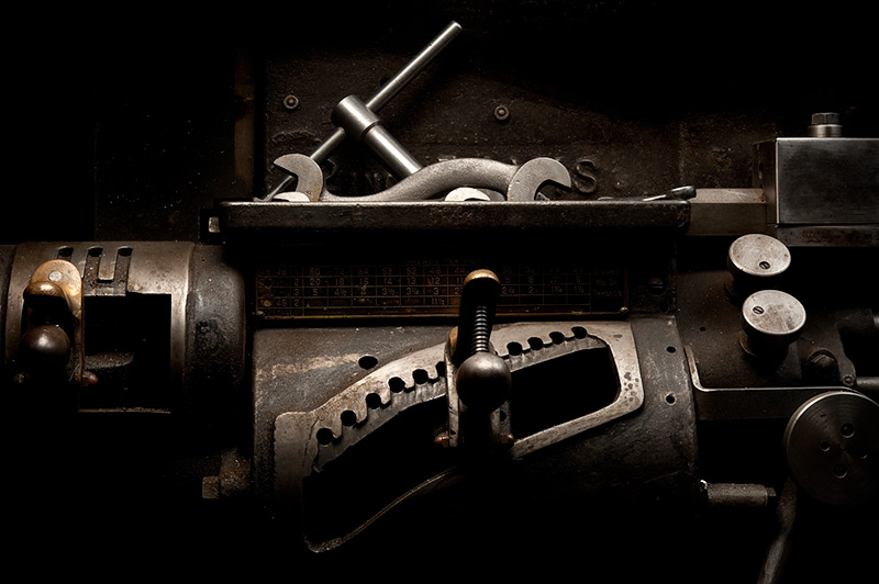 Davis Engine Lathe Haadstock by Joseph Holmes | Archival Pigment Print