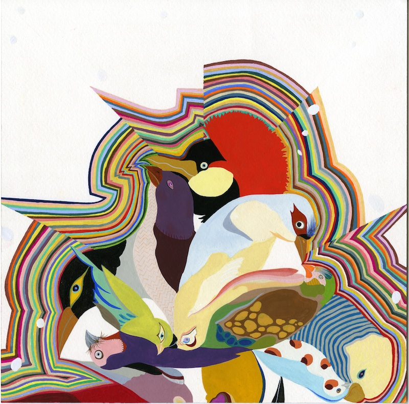 Bird Power  by Carrie Marill | Gouache on Paper