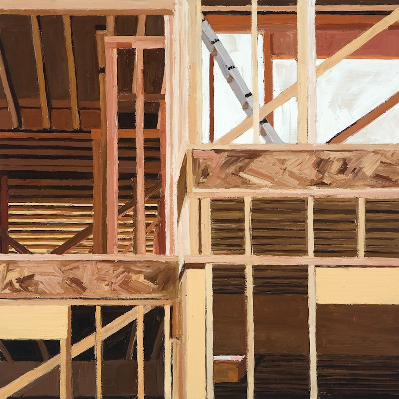 Construction 5  by Sarah McKenzie | Oil on wood panel