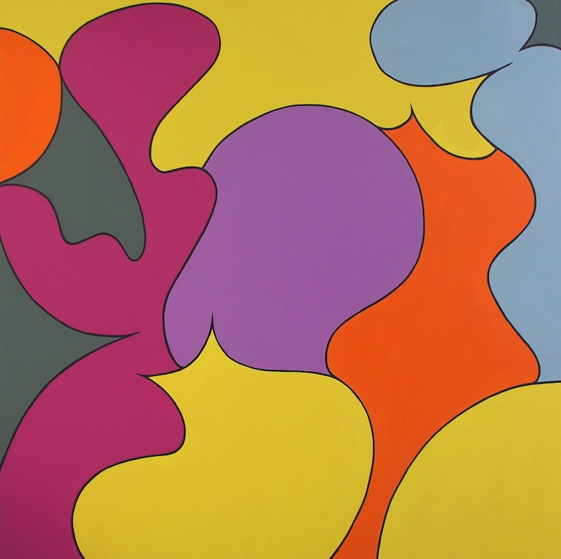 Six Color Theorum  by Jessica Snow | Acrylic on canvas