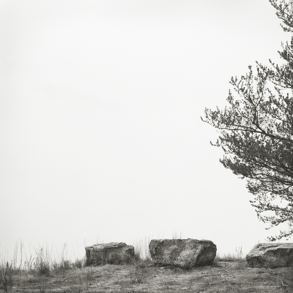 Three Rocks  by Beth Dow | Platinum-Palladium Print