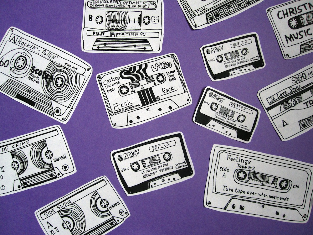 Mixtapes  by Kate Bingaman-Burt | Ink on Paper