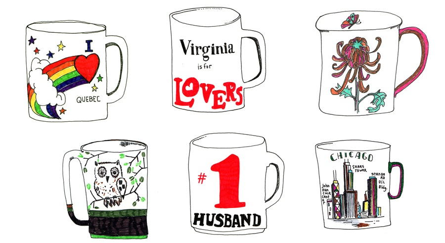 Mugs  by Kate Bingaman-Burt | Ink on Paper