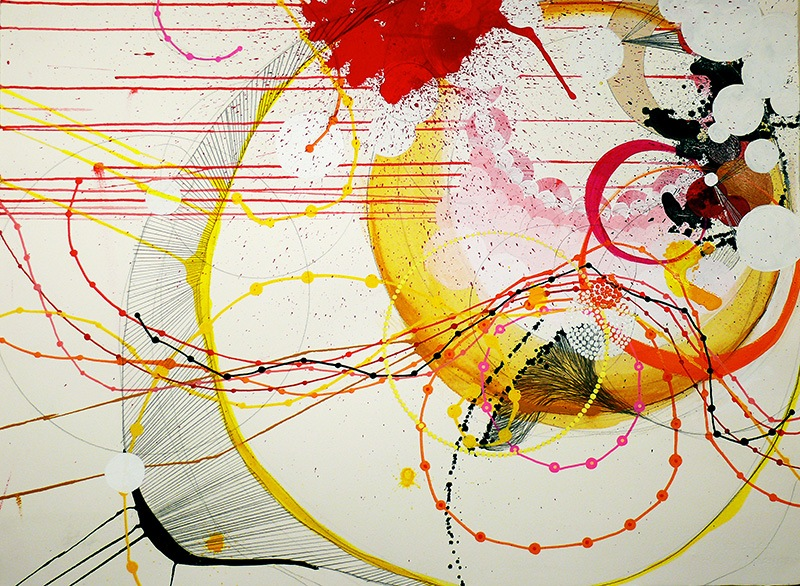NY07#33 by Jennifer Sanchez | Mixed Media on Paper