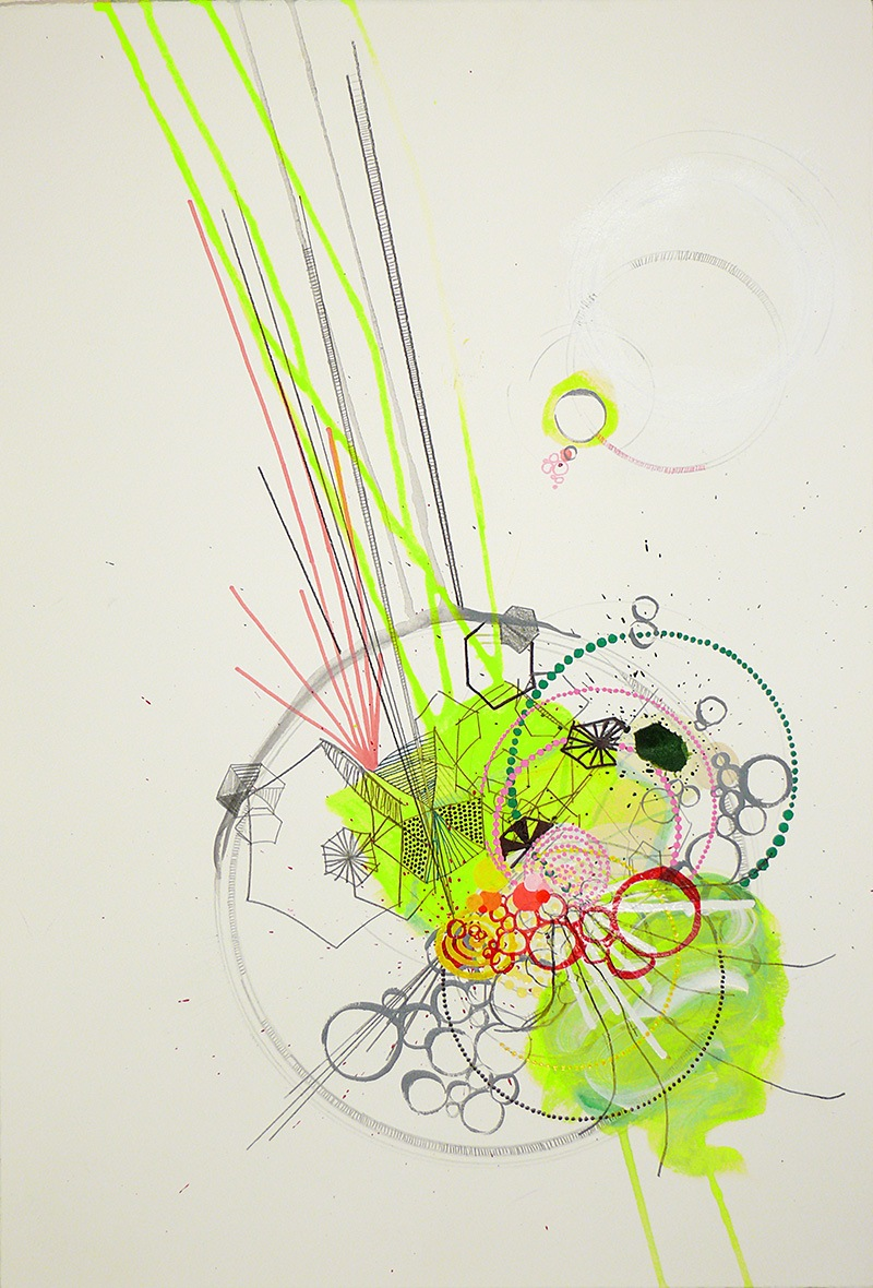 NY07#39 by Jennifer Sanchez | Mixed Media on Paper