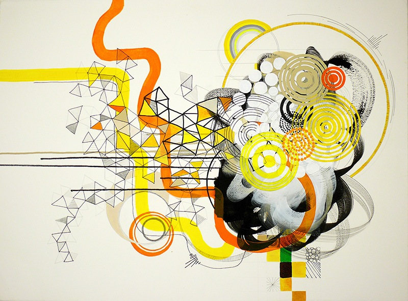 NY08#03 by Jennifer Sanchez | Mixed Media on Paper