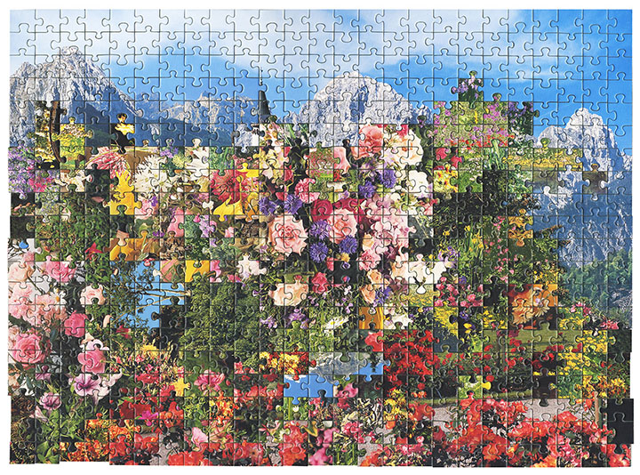 Puzzle  #1 by Kent Rogowski | Puzzle Assemblage and Digital C-Print