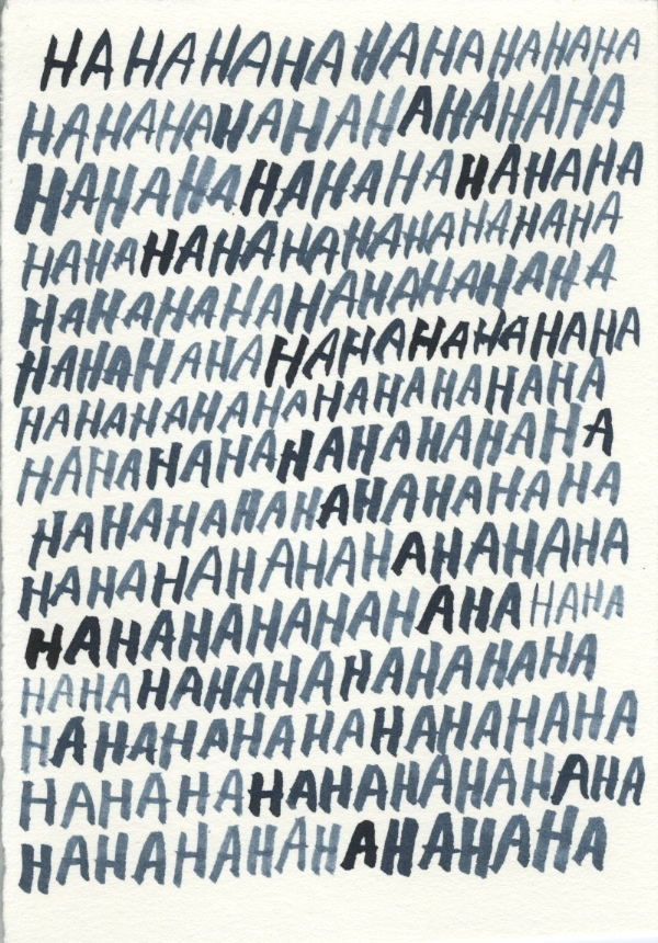 Ha Ha  by Jason Polan | Ink on Paper