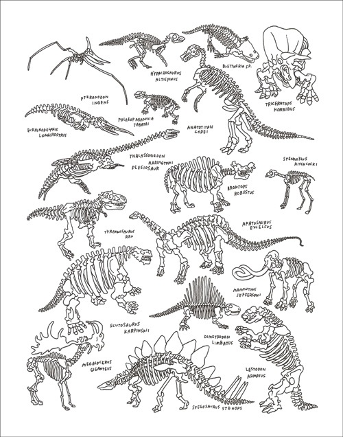 Dinos  by Jason Polan | Ink on Paper