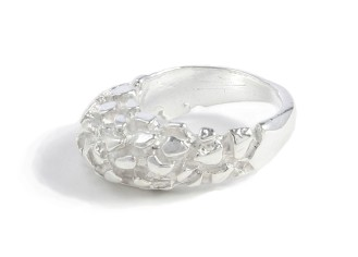 $160 GAUDI PINKY RING inspired by the architectural innovations of Antoni Gaudi. it was especially designed to be worn on the pinky finger, as a delicate statement piece sterling silver
