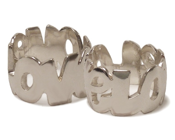 $300  CUSTOM ID RING  inspired by the need to wear the name of her godson in a piece of  jewelry, Joanna developed a hand-pierced  graffiti style ring. maximum number of letters 10     sterling silver