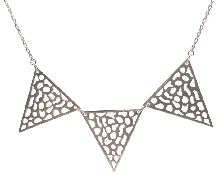 $260 MAYA NECKLACE made with negative spaces it resembles the angular features of the Mayan pyramids