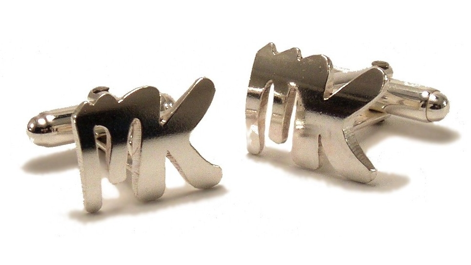 $320  ID CUFFLINK   the id cufflink is the perfect gift that can be customized with any date or letter. minimum 1 letter, maximum 2 letters  sterling silver