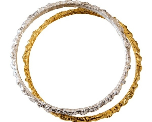$240  MOLTEN BRACELETS   measures 4mm and has a melted metal look. its organic look can be paired  with other bracelets or as a statement piece worn by itself  sterling silver