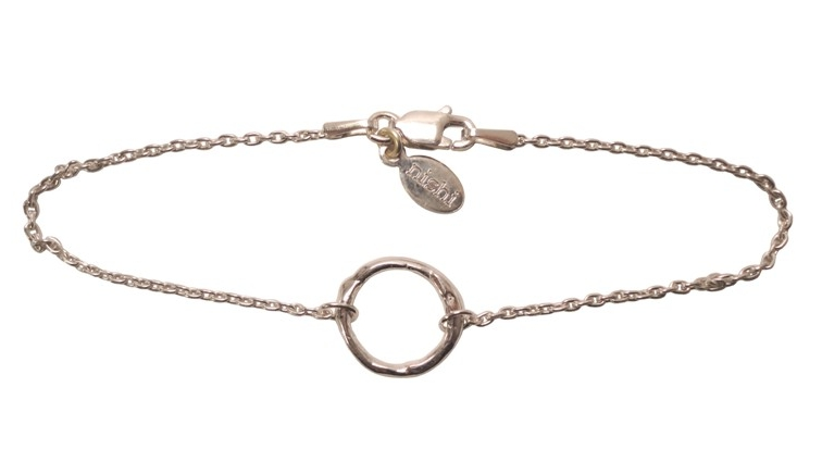 $85  ORBIT BRACELET   inspired by the traditional nishi friendship bracelets, this combines a small branch circle embedded in a delicate chain  sterling silver
