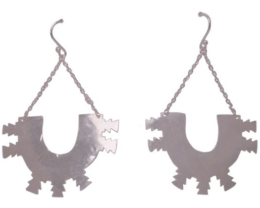 $260 FÉS EARRINGS named after a city in northern Morocco, these earrings resemble the motifs of the city