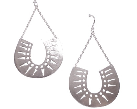 $260 ESSA EARRINGS named after the coastal town of Essaouira, Morocco, inspired by a trip Joanna took with her family, she designed a collection of earrings to represent the beautiful architecture and motifs of the country