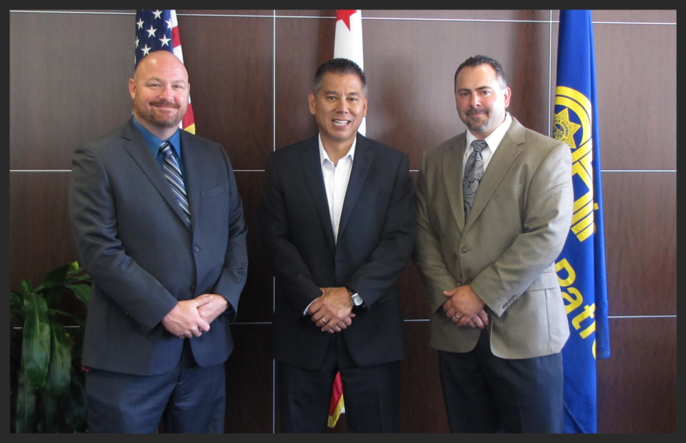 Inaugural T-ROC Council Co-Chairs, Terry Warford Jr. and Casey Horvath with C.H.P. Commissioner Joseph A. Farrow
