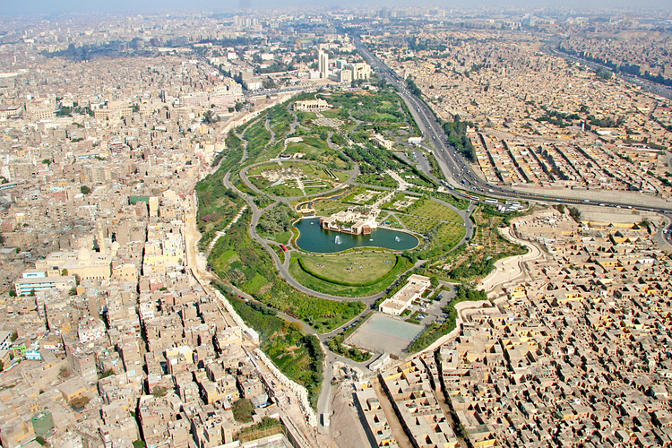 Aerial View of Al-Azhar Park