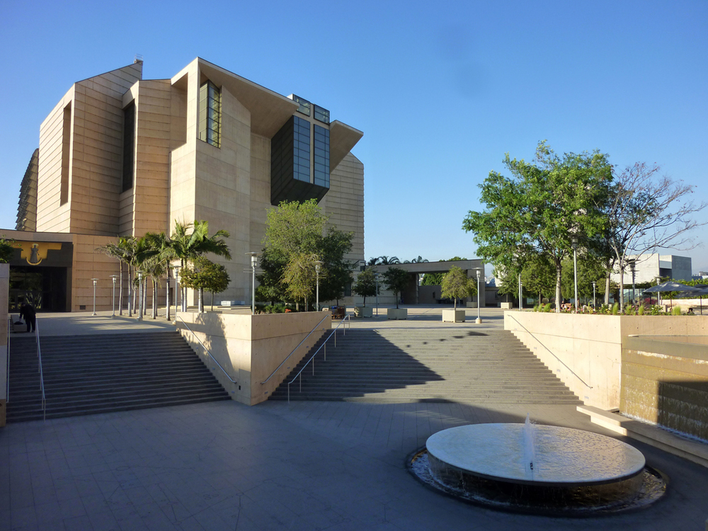 The Los Angeles Cathedral, as viewed from its courtyard.  Source:  Aseem Inam.