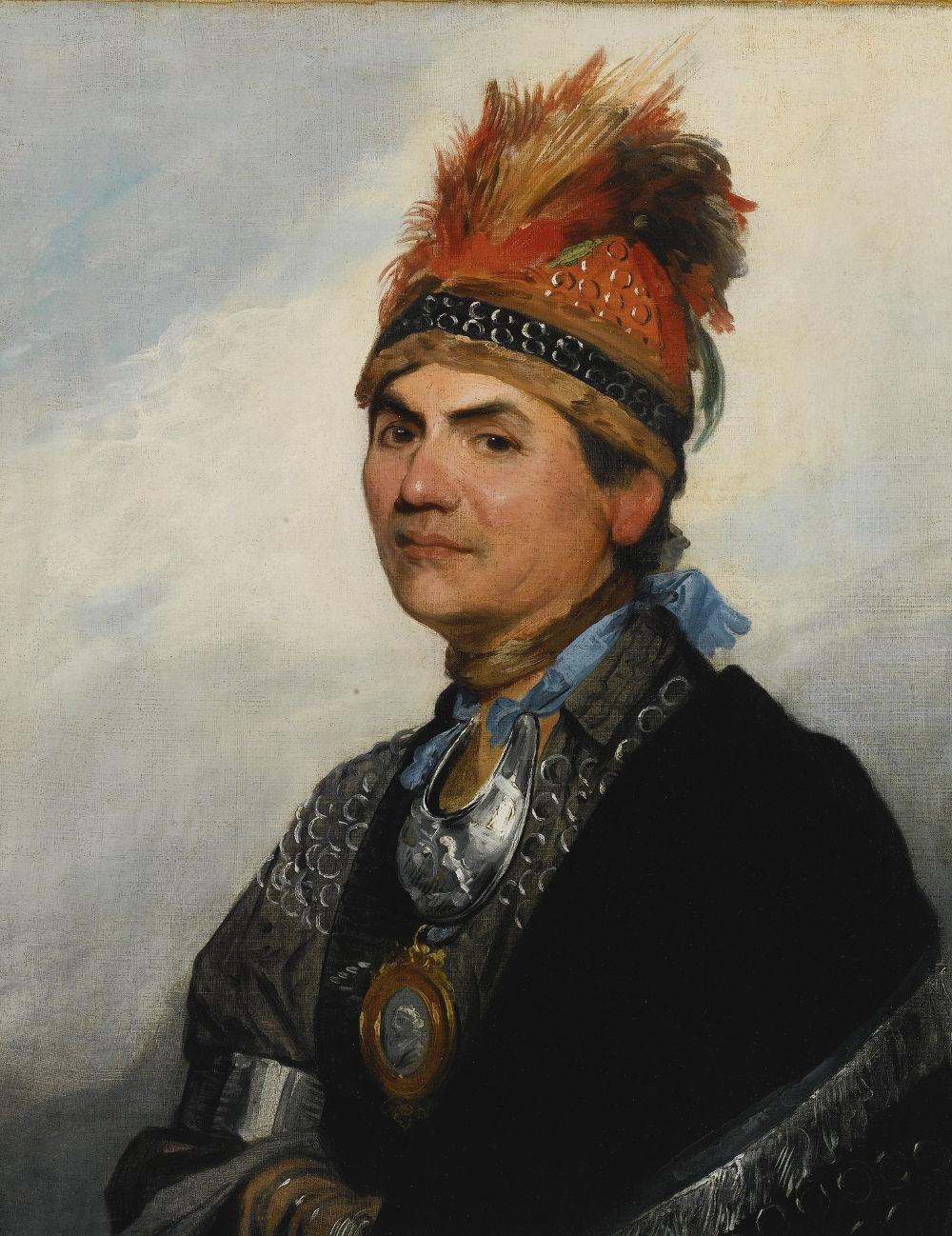 Portrait of Joseph Brant by Gilbert Stuart, 1786