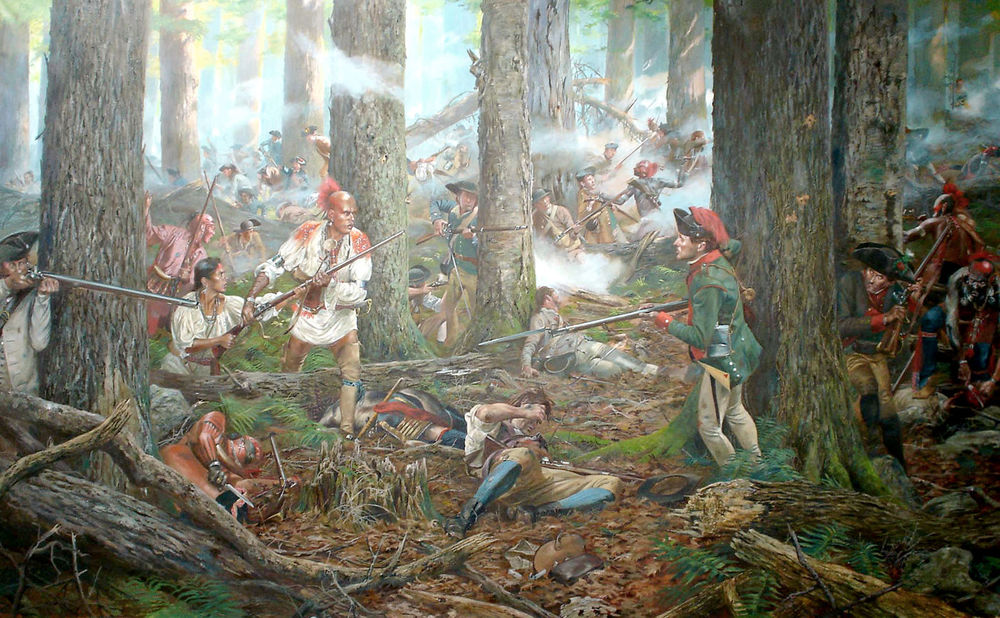 Oneidas at the Battle of Oriskany, by Don Troiani