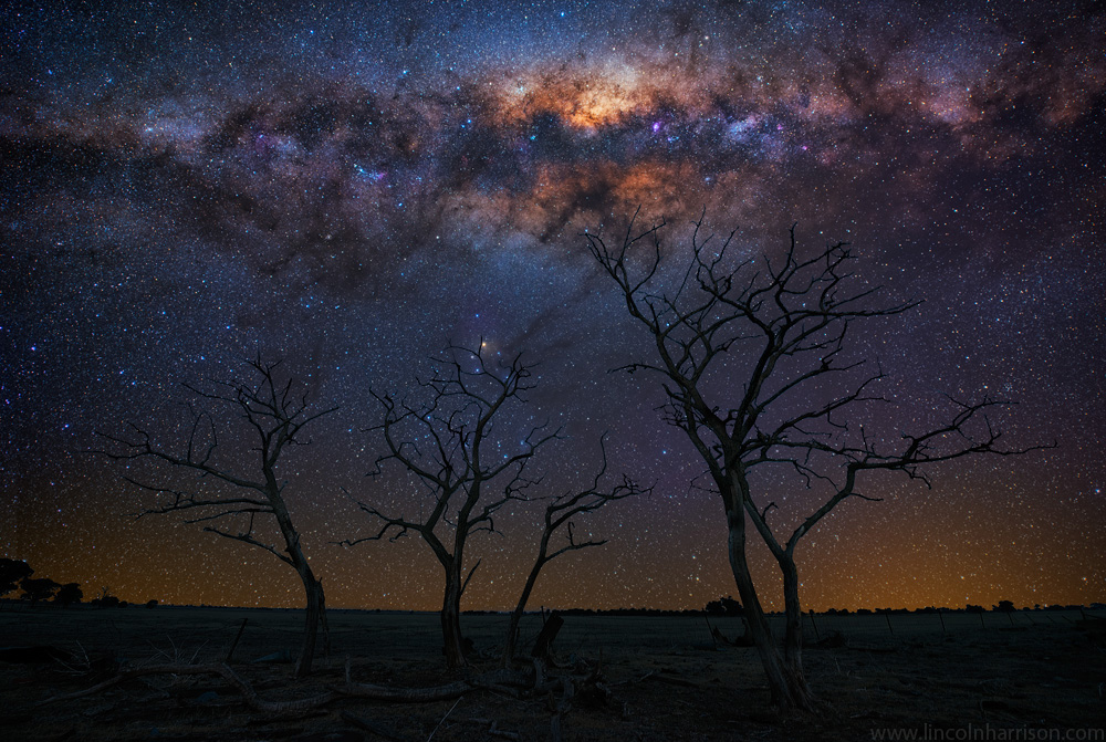 stars, milky way, night sky, galaxy, galactic center, nebula, night, lincoln harrison, long exposure, nightscape, starscape, silhouette, astro, astrophotography
