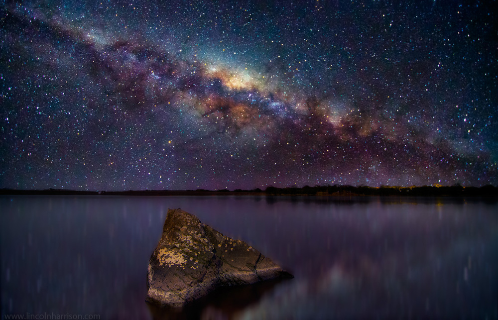 stars, milky way, night sky, galaxy, galactic center, nebula, night, lincoln harrison, long exposure, nightscape, starscape, stairway to heaven, reflection, lake eppalock, astro, astrophotography
