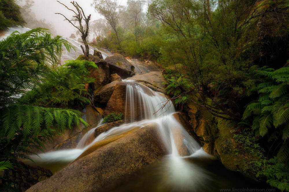 landscape, eurobin falls, waterfall, mt buffalo, mount buffalo, alpine national park, lincoln harrison