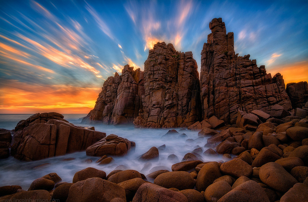 seascape, sunsrise, sunset, lincoln harrison, long exposure, lee filters, phillip island, cape woomalai, cape woolamai, the pinnacles, pinnacles, sea stacks
