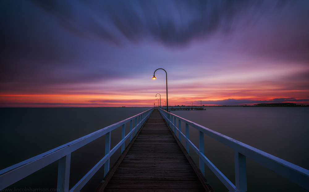 seascape, sunsrise, sunset, lincoln harrison, long exposure, lee filters,lagoon pier, port melbourne, pier, jetty
