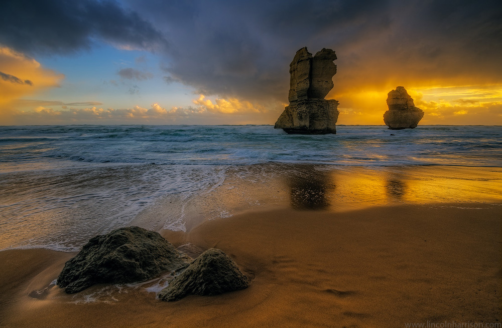 seascape, sunsrise, sunset, lincoln harrison, long exposure, lee  filters, 12 apostles, twelve apostles, port campbell, gibsons steps, gibsons beacj, sea stacks, great ocean road, great ocean rd