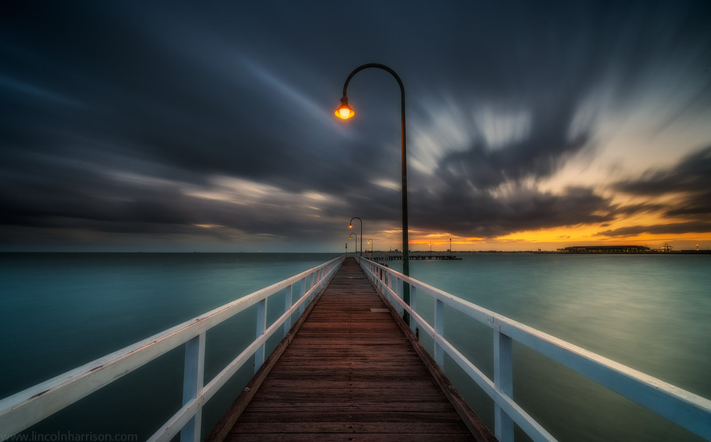 seascape, sunsrise, sunset, lincoln harrison, long exposure, lee filters,lagoon pier, pier, jetty, port melbourbe, port phillip bay