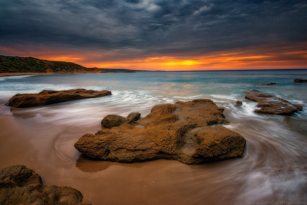 seascape, sunsrise, sunset, lincoln harrison, long exposure, lee  filters, aireys inlet, great ocean rd, great ocean road, shipwreck coast, sunnymeade beach