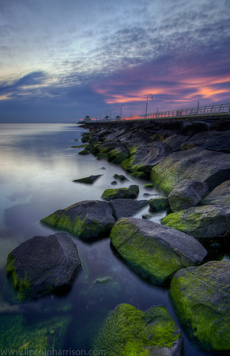 seascape, sunsrise, sunset, lincoln harrison, long exposure, lee  filters,st kilda, st kilda beach, st kilda pier, pier, jetty