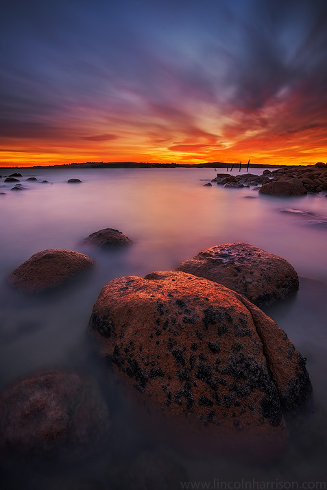 seascape, sunsrise, sunset, lincoln harrison, long exposure, lee  filters, phillip island, cape woomalai, cape woolamai, old granite  quarry