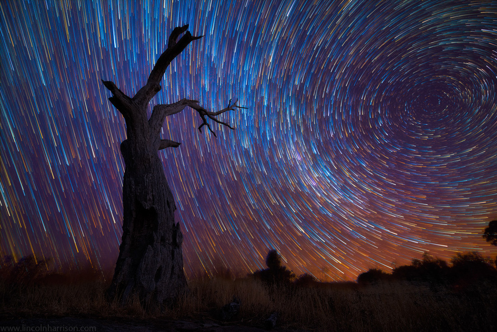 stars, startrails, startrail, circumpolar, long exposure, nigh, night sky, galaxy, nebula, lincoln harrison, fading startrails, astrophotography, astro