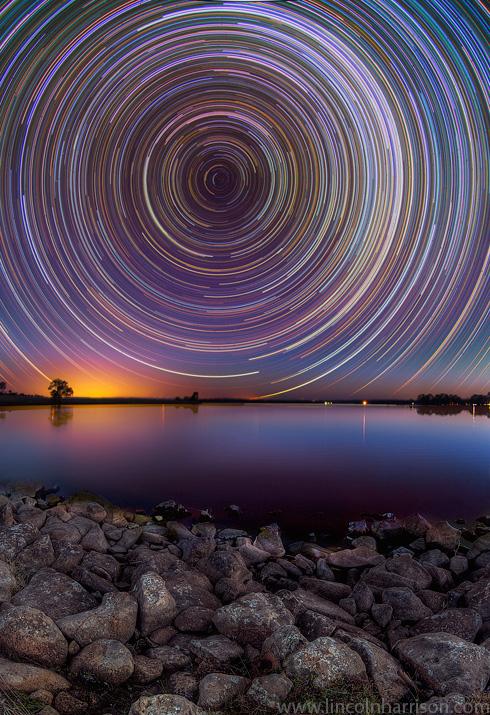 stars, startrails, startrail, circumpolar, long exposure, nigh, night sky, galaxy, nebula, lincoln harrison, astrophotography, astro, bullseye