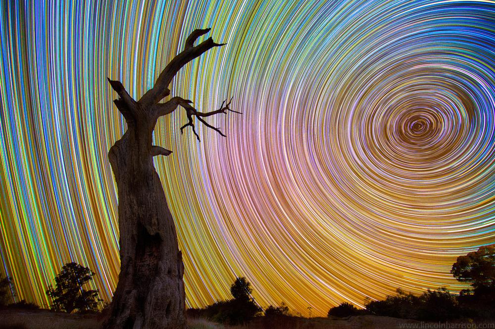 stars, startrails, startrail, circumpolar, long exposure, nigh, night sky, galaxy, nebula, lincoln harrison, caelestis, astrophotography, astro